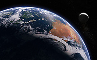 Digitally manipulated image of Australia and Indonesia from space
