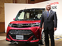 Daihatsu president Masanori Mitsui introduces new compact car Thor in Tokyo