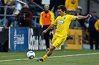 8 MAY 2010:  Guillermo Barros Schelotto of the Columbus Crew (7) during MLS soccer game between New England Revolution vs Columbus Crew at Crew Stadium in Columbus, Ohio on May 8, 2010.