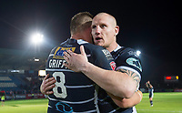 Picture by Allan McKenzie/SWpix.com - 11/05/2017 - Rugby League - Ladbrokes Challenge Cup - Featherstone Rovers v Halifax RLFC - The LD Nutrition Stadium, Featherstone, England  - Featherstone's Darrell Griffin and Richard Moore congratulate each other on their victory over Halifax.