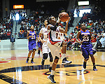 Ole MIss' Valencia McFarland (3) vs. Northwestern State in women's college basketball action in Oxford, Miss. on Friday, November 16, 2012.