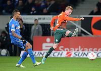 FUSSBALL   1. BUNDESLIGA  SAISON 2012/2013   15. Spieltag TSG 1899 Hoffenheim - SV Werder Bremen    02.12.2012 Kevin De Bruyne (re, SV Werder Bremen) gegen Daniel Williams (li, TSG 1899 Hoffenheim)