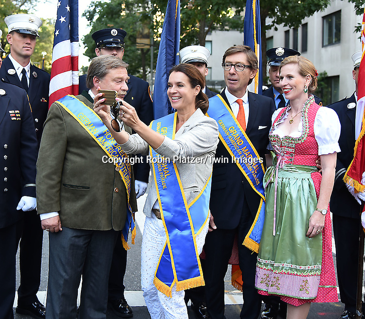 Grand Marshals Olympic Figure Skater Katarina Witt and German Ambassador Peter Wittig attends the 59th German-American Steuben Parade on September 17, 2016 on Fifth Avenue in New York City, New York, USA. <br /> <br /> photo by Robin Platzer/Twin Images<br />  <br /> phone number 212-935-0770