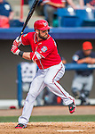 5 March 2016: Washington Nationals infielder Jason Martinson in action during a Spring Training pre-season game against the Detroit Tigers at Space Coast Stadium in Viera, Florida. The Nationals defeated the Tigers 8-4 in Grapefruit League play. Mandatory Credit: Ed Wolfstein Photo *** RAW (NEF) Image File Available ***