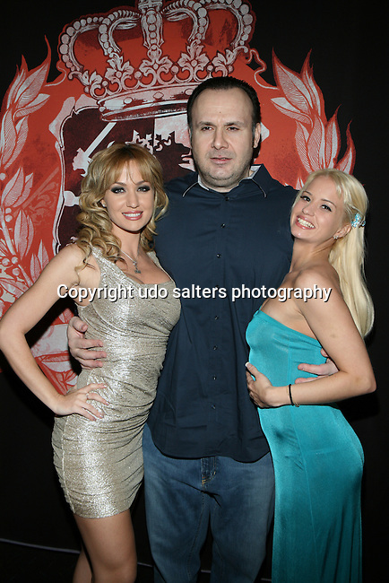 Penthouse Pet of the Year Runner Up Adult Film Star Angela Sommers, Big John and Katherine Warwick Attends HeadQuarters Gentlemen's Club, NY 3/28/13