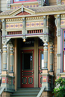 Victorian homes near Alamo Square Park, San Francisco, California.