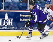 Andrew Sackrison (Mankato - 21), Shayne Thompson (Lowell - 23) - The visiting Minnesota State University-Mankato Mavericks defeated the University of Massachusetts-Lowell River Hawks 3-2 on Saturday, November 27, 2010, at Tsongas Arena in Lowell, Massachusetts.