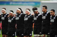 New Zealand U20 players sing the national anthem prior to the match. World Rugby U20 Championship match between New Zealand U20 and Ireland U20 on June 11, 2016 at the Manchester City Academy Stadium in Manchester, England. Photo by: Patrick Khachfe / Onside Images