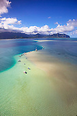 Sand Bar, Kaneohe Bay, Oahu, Hawaii.