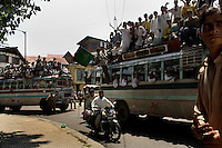 On the 22nd August 2008 an estimated 350,000 Kashmiri's marched to the Eidgha communal ground in Srinagar demanding Independence from India. Local Kashmiri's said they had never witnessed anything like it in their lifetime. .Hundreds of lorries and buses carried pro Kashmir independence demonstrators to the Eidgha communal ground....
