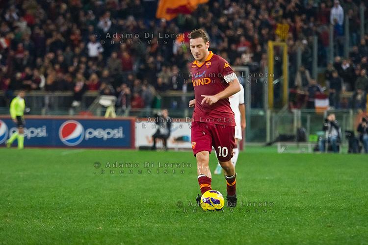 ROMA (RM) 19/11/2012: SERIE A TREDICESIMA GIORNATA ROMA - TORINO. INCONTRO VINTO DALLA ROMA PER 2 A 0. NELLA FOTO FRANCESCO TOTTI ROMA  FOTO ADAMO DI LORETO/