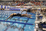 18 February 2016: Miami's My Fridell competes in the Women's 50 Freestyle preliminary Heat 5. The 2016 Atlantic Coast Conference Swimming and Diving Championships were held at the Greensboro Aquatic Center in Greensboro, North Carolina from February 17-27, 2016.