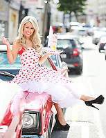 25/8/2011. Model Tiffany Stanley is pictured at the offical opening of the new Eddie Rockets City Diner in Nass Co Kildare. Picture James Horan/Collins Photos