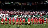 Portland, OR - Saturday April 15, 2017: Portland Thorns FC, fans, supporters during a regular season National Women's Soccer League (NWSL) match between the Portland Thorns FC and the Orlando Pride at Providence Park.