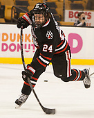 Mike Jamieson (NU - 24) - The Harvard University Crimson defeated the Northeastern University Huskies 4-3 in the opening game of the 2017 Beanpot on Monday, February 6, 2017, at TD Garden in Boston, Massachusetts.
