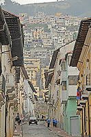 view of downtown quito street arquitecture.