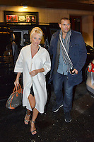 Pamela Anderson Seen In Stockholm