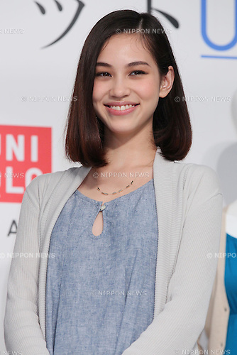 Kiko Mizuhara, April 13, 2011 : Actress Kiko Mizuhara attends press conference for UNIQLO UV cut wear Collection in Ebisu, Tokyo, Japan, (Photo by Yusuke Nakanishi/AFLO) [1090]