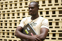 Ushahidi developer Henry Addo  photographed at a conference organised by Free Software and open Source Foundation for Africa .
