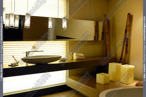 Bathroom interior design in oriental style