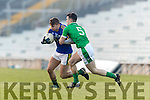 James O'Donoghue Kerry in action against Paul White Limerick in the Final of the McGrath Cup at the Gaelic Grounds on Sunday.