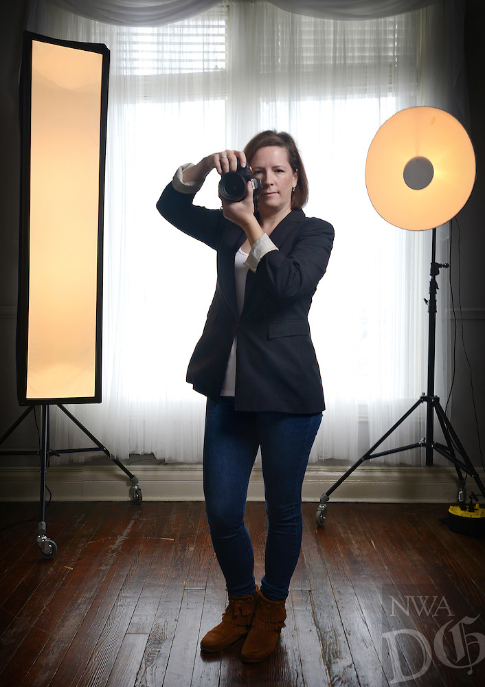 NWA Democrat-Gazette/BEN GOFF @NWABENGOFF<br /> Marsha Foster, owner and artist of Freedom Dreamer Photography, poses for a photo on Sunday Feb. 14, 2016 in her downtown Rogers studio.