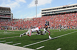 Ole Miss' Jeff Scott (3) eludes Georgia free safety Bacarri Rambo (18) to score a touchdown, which was called back due to penalty, at Vaught-Hemingway Stadium in Oxford, Miss. on Saturday, September 24, 2011. Georgia won 27-13.