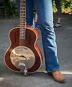 Jonny Gray waits backstage before singing at the Kingman Bluegrass Festival in Washington, DC.