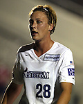 Abby Wambach at Legion Stadium in Wilmington, North Carolina on 3/8/03 during a preseason game between the Carolina Courage and Washington Freedom.