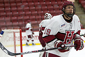 Jake Horton (Harvard - 19) - The Harvard University Crimson defeated the St. Lawrence University Saints 6-3 (EN) to clinch the ECAC playoffs first seed and a share in the regular season championship on senior night, Saturday, February 25, 2017, at Bright-Landry Hockey Center in Boston, Massachusetts.
