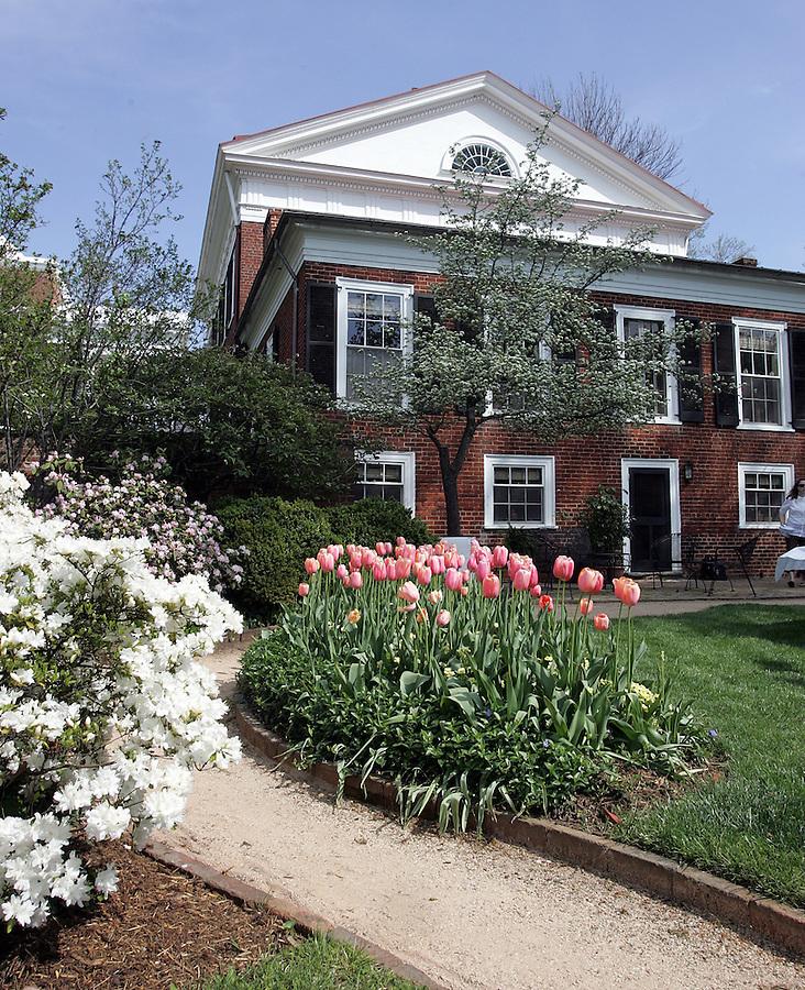 UVa pavilion gardens in spring 2007. Photo/Andrew Shurtleff