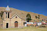 South America, Bolivia, Pariti. Church on Pariti Island in Lake Titicaca.