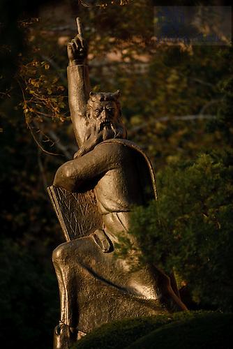 Oct. 25, 2011; Moses statue..Photo by Matt Cashore/University of Notre Dame