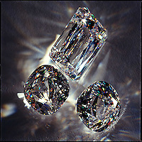 Diamonds refracting light