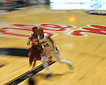 Ole Miss' Danielle McCray (22) vs. Alabama's Shafontaye Myers (12) in NCAA women's basketball action in Oxford, Miss. on Sunday, January 13, 2013.  Alabama won 83-75.