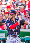 23 May 2015: Washington Nationals outfielder Bryce Harper in action against the Philadelphia Phillies at Nationals Park in Washington, DC. The Phillies defeated the Nationals 8-1 in the second game of their 3-game weekend series. Mandatory Credit: Ed Wolfstein Photo *** RAW (NEF) Image File Available ***