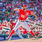 24 May 2015: Washington Nationals pitcher Matt Grace on the mound against the Philadelphia Phillies at Nationals Park in Washington, DC. The Nationals defeated the Phillies 4-1 to take the rubber game of their 3-game weekend series. Mandatory Credit: Ed Wolfstein Photo *** RAW (NEF) Image File Available ***