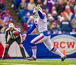 19 October 2014: Buffalo Bills punter Colton Schmidt kicks a 53-yard punt in the first quarter against the Minnesota Vikings at Ralph Wilson Stadium in Orchard Park, NY. The Bills defeated the Vikings 17-16 in a dramatic, last minute, comeback touchdown drive. Mandatory Credit: Ed Wolfstein Photo *** RAW (NEF) Image File Available ***