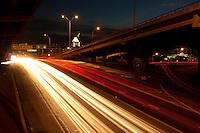 I-35 Highway traffic light trails