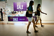 Upper class Indian women seen shopping in a shopping mall in New Delhi, India..Photograph: Sanjit Das/Panos