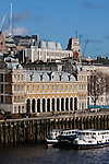 old billingsgate market viewed from over the thames