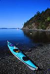 kayak at Spring Bay on Orcas Island