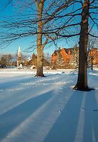 The UVM Green, Winter UVM Campus