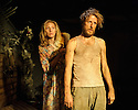 Two Shed Theatre's AFRICAN GOTHIC, by Reza de Wet, directed by Roger Mortimer and Deborah Edgington, opens at Park Theatre. Picture shows: Janna Fox (Sussie), Oliver Gomm (Frikkie)