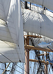 Tall ship Star of India 1863 iron hulled beauty oldest active ship in world San Diego Bay California, full rigged ship named after the Greek goddess of music, tall ship is large traditionally rigged sailing vessel, California Fine Art Photography by Ron Bennett,