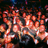 A crowd consisting almost exclusively of young women pack the Luanda club Esplanada 10 for a Saturday night Kuduru/Kuduro performance...