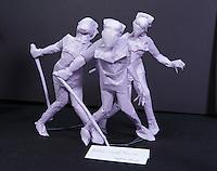 Bubble Head Nurse origami model designed and folded by Takuya Okamoto, Japan