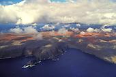 Aerial view of Kamohio on the island of Kooholawe, Hawaii