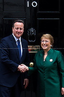 13.05.2016 - The President of Chile Michelle Bachelet at 10 Downing Street