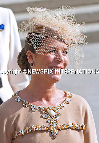 """ROYAL HAT PARADE - PRINCESS CAROLINE OF HANOVER.The Religious Wedding of HRH the Hereditary Grand Duke and Countess Stéphanie de Lannoy at the Cathedral of Our lady of Luxembourg, provided an opportune moment for the Royal Ladies to put on a hat show and they did not disappoint with their various styles, Luxembourg_20-10-2012.Mandatory credit photo: ©Dias/NEWSPIX INTERNATIONAL..(Failure to credit will incur a surcharge of 100% of reproduction fees)..                **ALL FEES PAYABLE TO: """"NEWSPIX INTERNATIONAL""""**..IMMEDIATE CONFIRMATION OF USAGE REQUIRED:.Newspix International, 31 Chinnery Hill, Bishop's Stortford, ENGLAND CM23 3PS.Tel:+441279 324672  ; Fax: +441279656877.Mobile:  07775681153.e-mail: info@newspixinternational.co.uk"""